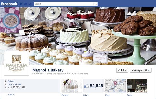 Facebook Brand Timeline Magnolia Bakery