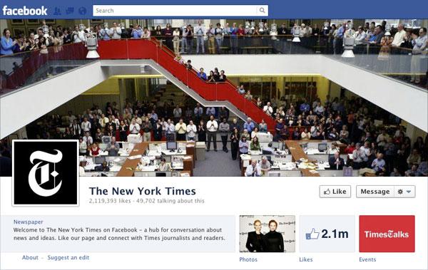 Facebook Brand Timeline New York Times