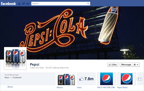 Facebook Brand Timeline Pepsi