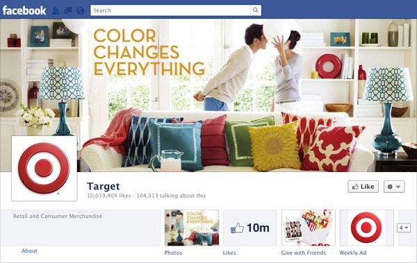 Facebook Brand Timeline Target