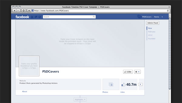 Beautiful Facebook Timeline PSD Cover Template