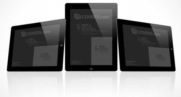 iPad 3 Cover Action PSD Layout Template