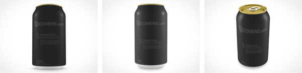 Blank Soda Pop Aluminum PSD Can