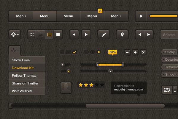 GUI PSD Mockup UI Interface (PSD)
