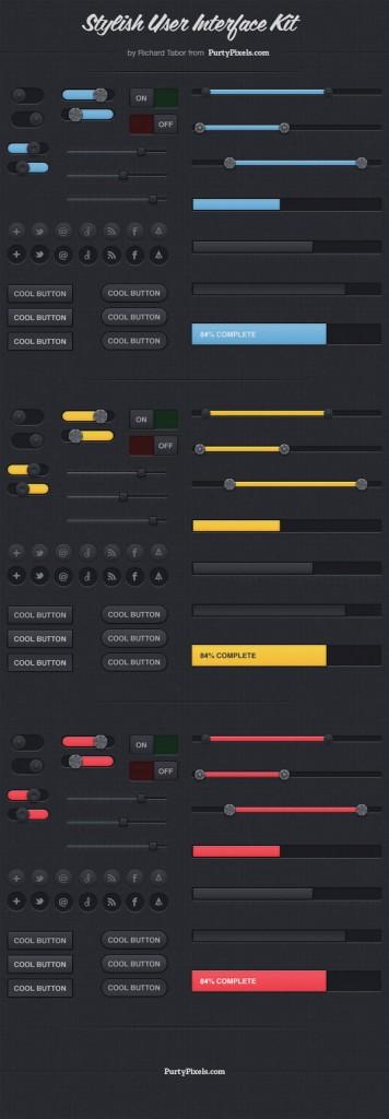 UI PSD GUI Mockup Interface (PSD)