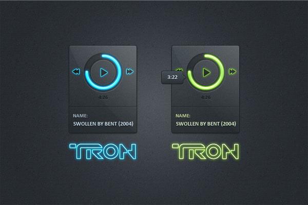 Dark TRON GUI Interface UI (PSD)