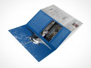 PSD Mockup 3 Panel Tri Fold Brochure Travel Tourism