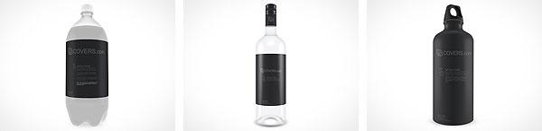 Freebie PSD Mockup Soda Wine Water Bottle