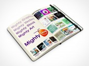 PSD Mockup 45 degrees view moleskine mighty deals