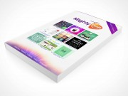 PSD Mockup Softcover Comic Book Graphic Featured Laying Down