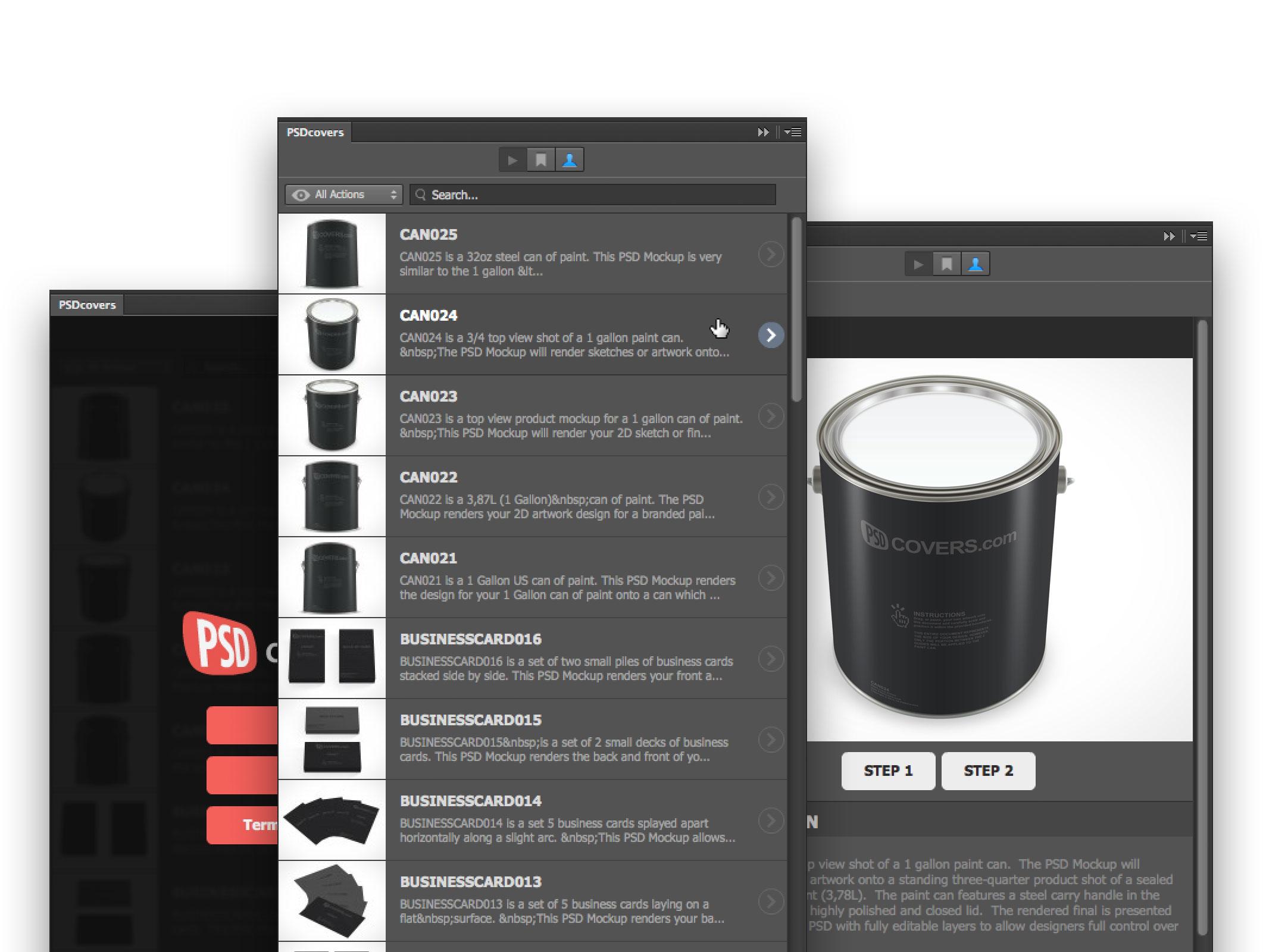 psdcovers mockups plugin screenshots walkthrough