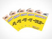 PSD Covers set of 5 business card mockup landscape presentation