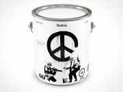 PSD Mockup 1 Gallon Banksy Paint Can