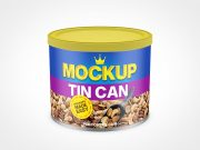Metal Tin Can Mockup