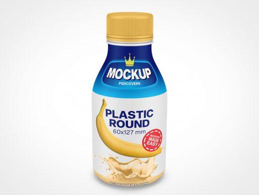 PLASTIC ROUND BOTTLE SCREW TOP MOCKUP 60X127