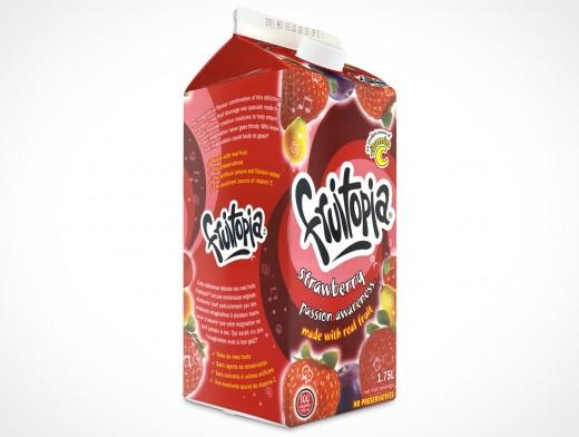 Empty 2L Carton Milk Juice Cocktail Beverage Container template