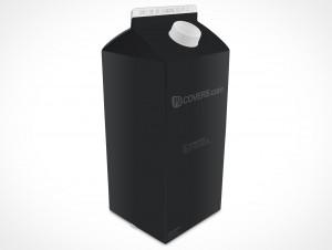 Empty 2L Carton Container template
