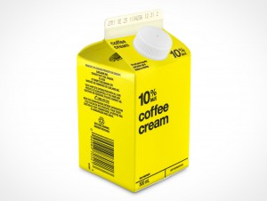Empty 500mL Carton Container template