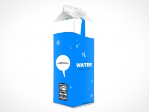 Empty 1L Carton Container template