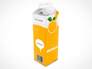 Empty 1L Carton Container template