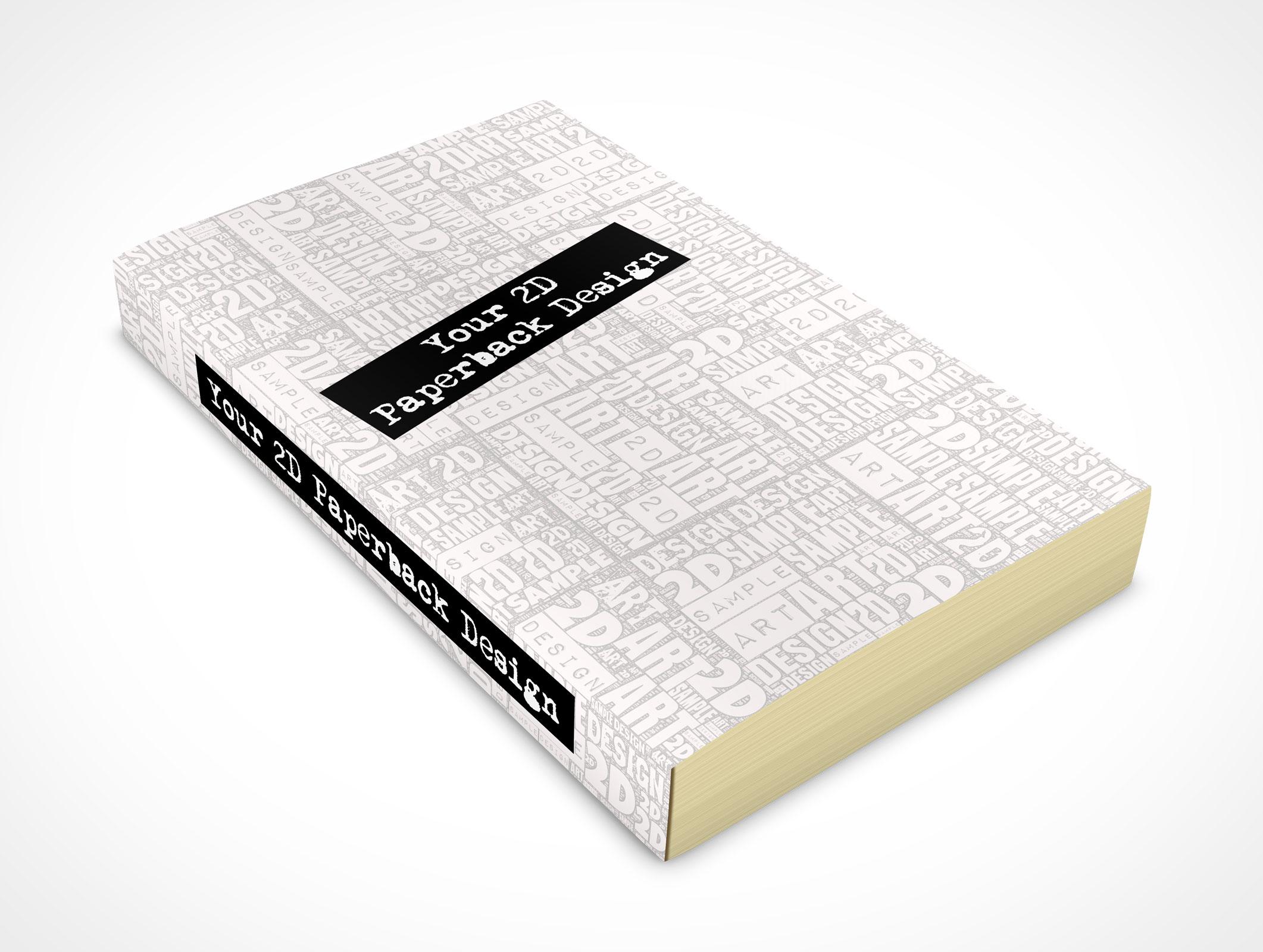 Vintage Soft Cover Book Mock Up ~ Paperback market your psd mockups for