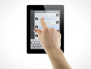 iPad 3 Multi-Touch Pinch to Zoom Male Hands