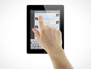 iPad 3 Multi-Touch Pointing Select Male Hands