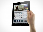 iPad 3 Multi-Touch Gestures Male Hands