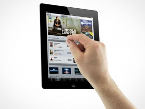 iPad 3 Multi-Touch Gestures Pinching Male Hands