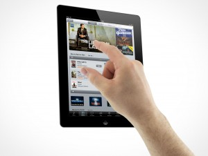 iPad 3 Multi-Touch Gestures Zooming Male Hands