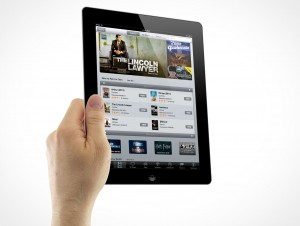 iPad 3 Multi-Touch Holding Male Hands