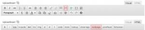 Wordpress HTML Visual Toolbar Editor