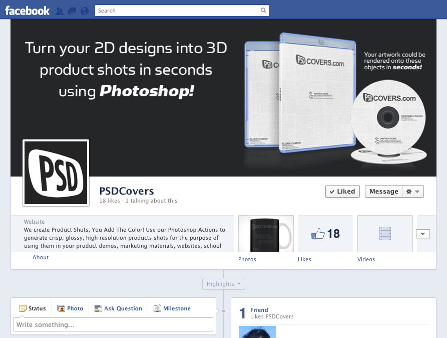 Free facebook cover template psd images template design for Facebook message template for word