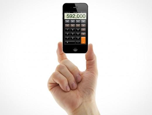 iPhone 4 4S Hand Holding Gesture Portrait