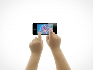 iPhone iPad Toddler Child Hand Gestures