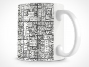 PSD Ceramic Coffee Cup Mug
