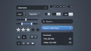 UI Interface GUI Mockup (PSD)