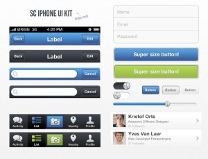 GUI iPhone Interface Kit UI (PSD)