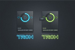 Dark TRON GUI Interface UI (PSD)