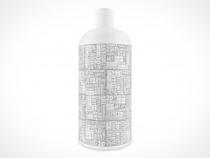 Blank Shampoo Bottle Cover Action PSD