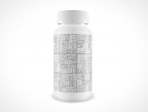 Blank Aspirin Pill Medicine Bottle PSD Cover Action