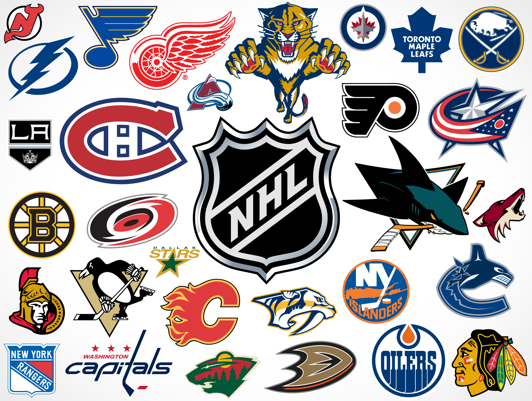 National Hockey League Team Vector Logos Market Your Psd Mockups