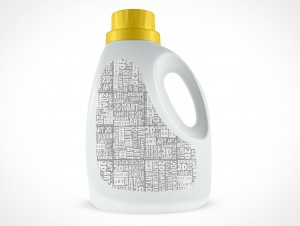 Mockup Fabric Softener PSD Cover Action Bottle