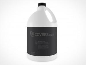 Blank Bleach Javel Bottle Cover Action PSD