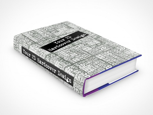 Mockup Hardcover Novel eBook Cover Action