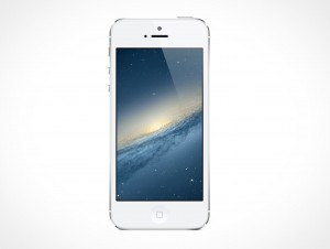Apple iPhone 5 Retina Mockup PSD Cover Action
