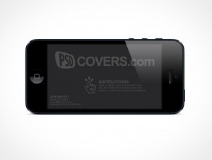 Landscape iPhone 5 Retina Mockup PSD Cover Action