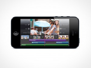 Landscape iPhone 5 Retina Mockup PSD Cover Action