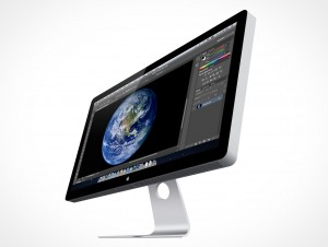 Apple Thunderbolt Cinema Display 27in PSD Cover Action