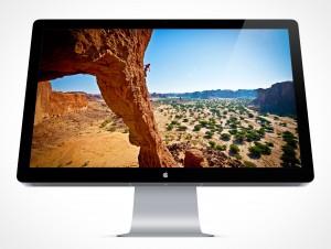 Apple Thunderbolt Mockup PSD Display